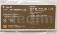"H&H Flat Compressed Gauze, kompresní - ploché bal. ( 4,5"" x 4,1 yards)"